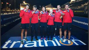 Los medallistas españoles en el Mundial de Gold Coast.