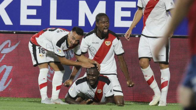 Imbula celebrates his goal against Huesca