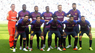 El equipo del Barça contra la Real