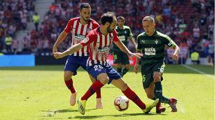 Juanfran en el partido frente al Eibar