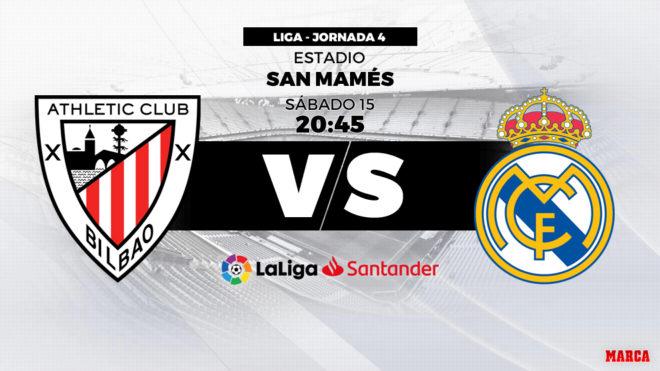 Athletic vs Real Madrid: Horario y dónde ver hoy en TV en directo