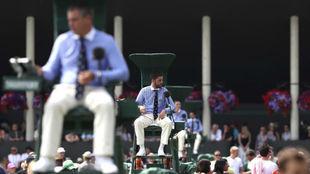 Jueces de silla, durante una edición de Wimbledon