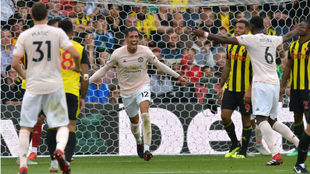 Romelu Lukaku and Chris Smalling were among the goals for the Red...