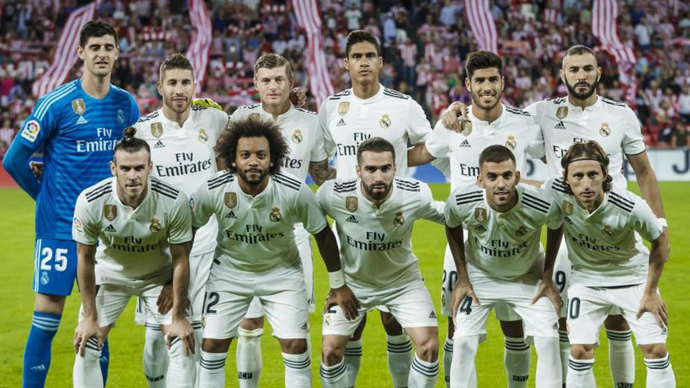 Real Madrid's starting XI vs Athletic Club.