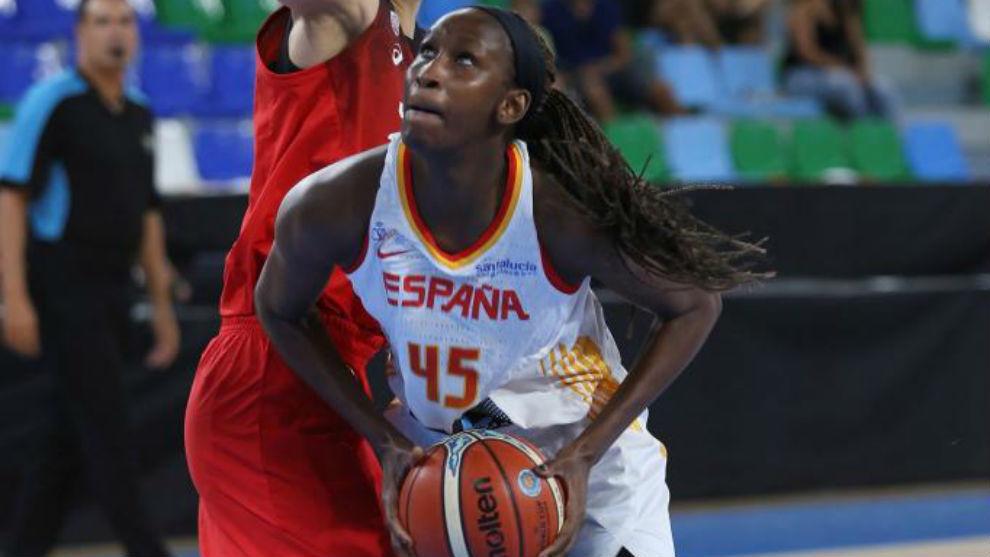 Astou Ndour fue la más destacada en la victoria española