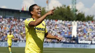 Bacca celebra su gol ante el Leganés.