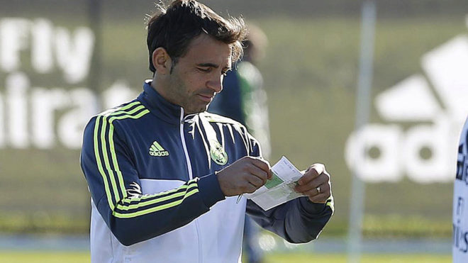 Fabio Pecchia, en un entrenamiento en su etapa en el Real Madrid.