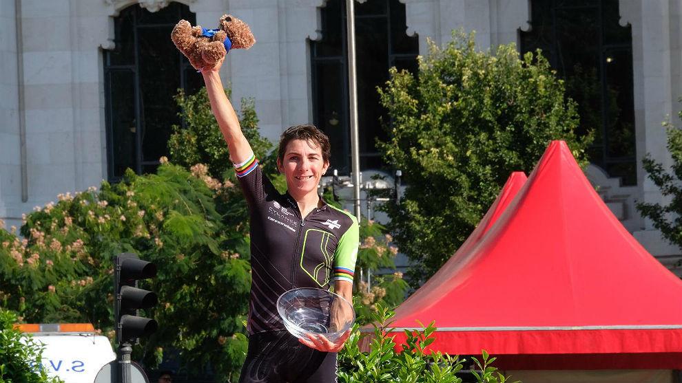 Giorgia Bronzini, la más rápida en la meta de Cibeles.