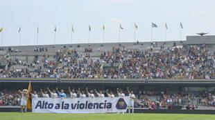 Pumas se une a las protestas por la violencia en la  UNAM.