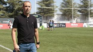 José Luis Sánchez Vera, durante su partido ante el EDF Logroño.