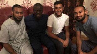 Kante, with his new found 'friends'
