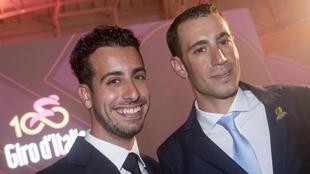 Fabio Aru y Vincenzo Nibali, en la presentación del 100º Giro de...