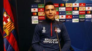 Hirving Lozano, en la rueda de prensa previa al duelo ante el FC...