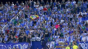 Imagen de la afición del Leganés en un partido celebrado en...