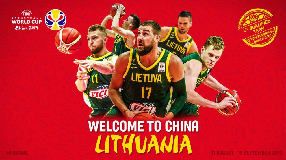 Resultado de imagen de Lituania clasificada para el mundial de China
