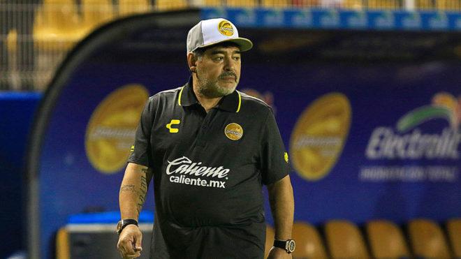 Dorados vs Cafetaleros  resultado y goles del debut de Maradona como ... 7d7a47c9b40e1