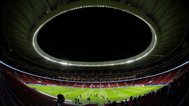 El Wanda Metropolitano antes de un partido de Champions de la pasada...