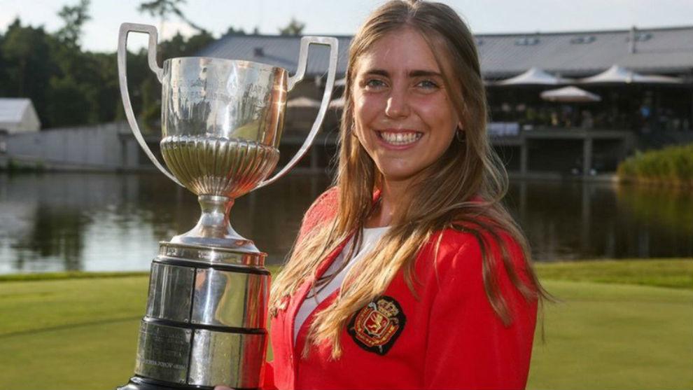 Celia Barquín, campeona de Europa sub 18.