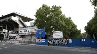 El Estadio de Vallecas, justo después de ser cerrado