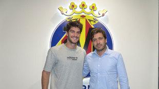 Gonzalo Melero en las instalaciones del Villarreal.