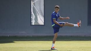 Marc Bartra, en el entrenamiento del Betis.