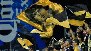 Aficionados de Dorados durante el partido ante Cafetaleros.