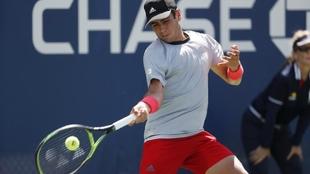Jaume Munar, durante un partido en el US Open.