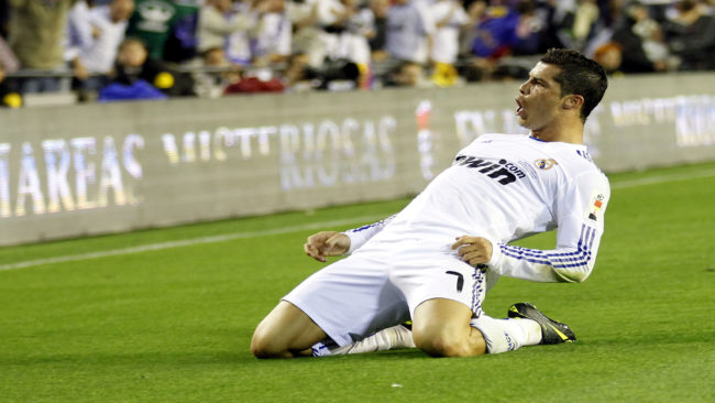 Cristiano Ronaldo celebra el tanto que le dio la Copa del Rey al...