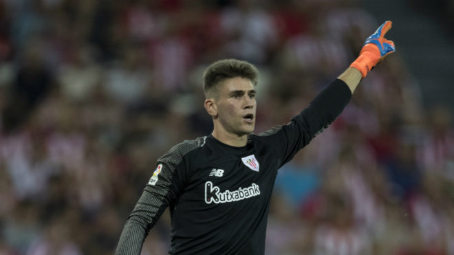 Athletic Bilbao Calendario.Laliga Santander Athletic Club Unai Simon Knocks Down The