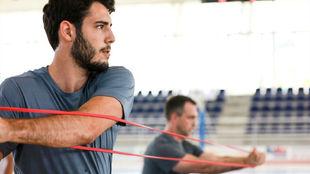 Álex Abrines durante un entrenamiento