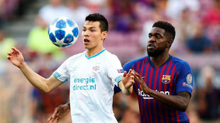 Samuel Umtiti and Hirving Lozano