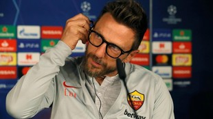 Di Francesco en rueda de prensa previa al Real Madrid - Roma de...