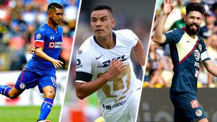 Cruz Azul, Pumas y América dominan la liga.
