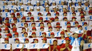 La bandera de 'Corea unificada' en los Juegos Olímpicos de...