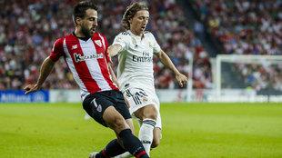 Beñat volvió al once en el choque ante el Real Madrid disputado en...