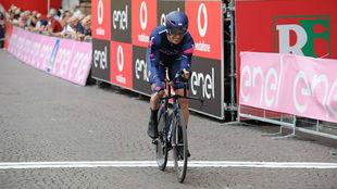 Edoardo Affini, en el prólogo del Giro Sub23 que ganó.