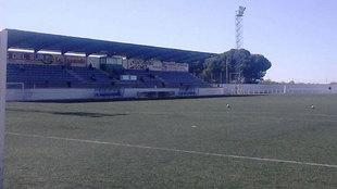 Campo de Las Delicias, donde juega el Mora CF.