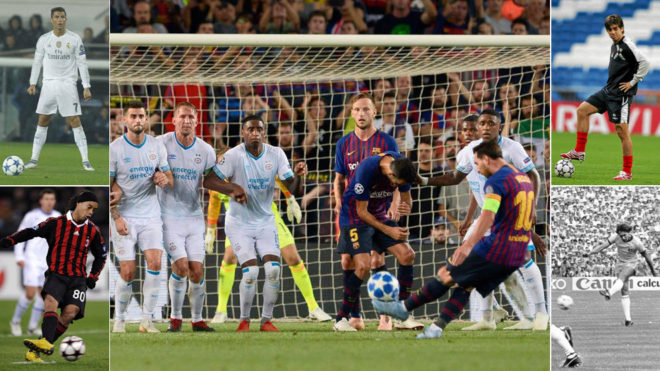 Messi and the other best freekick takers in football history