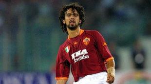Tommasi en su etapa como futbolista de la Roma.