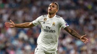 Mariano celebra su golazo contra la Roma.