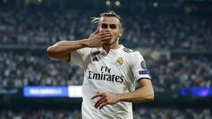 Bale celebra su gol ante la Roma.