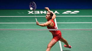 Carolina Marín durante el pasado Open de Japón.