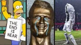 Los mejores memes de la expulsión de Cristiano Ronaldo en Valencia