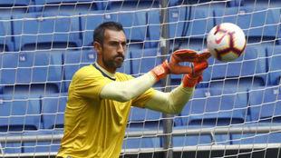 Diego López en un entrenamiento.