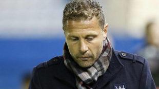 Curro Torres durante un partido con el Lorca.