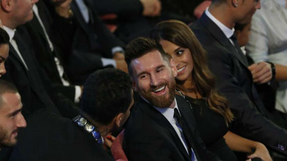 Leo Messi en una edición anterior de los premios The Best