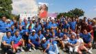 Foto de familia del torneo benéfico organizado por la Clínica...