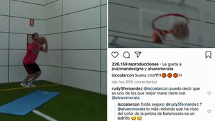 Isco shows off his three-point shooting skills