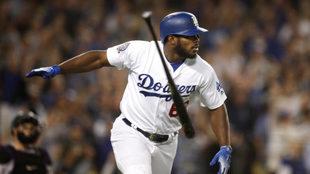 Yasiel Puig, pelotero de los Dodgers de Los Angeles