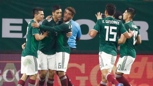 La selección de México, en el amistoso ante Uruguay